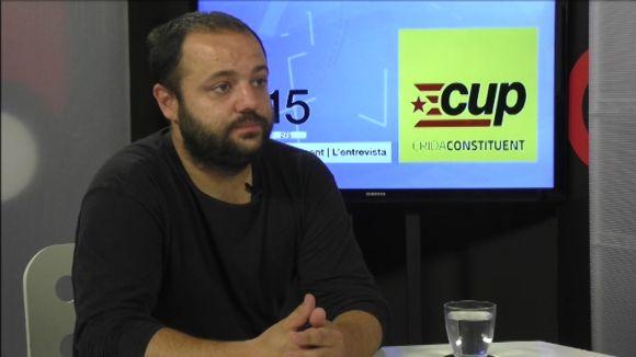 Aniol Pros (CUP): 'Si donem suport a JxSí, Mas no serà president'