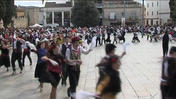 Imatge del Ball de Gitanes a la plaça d'Octavià