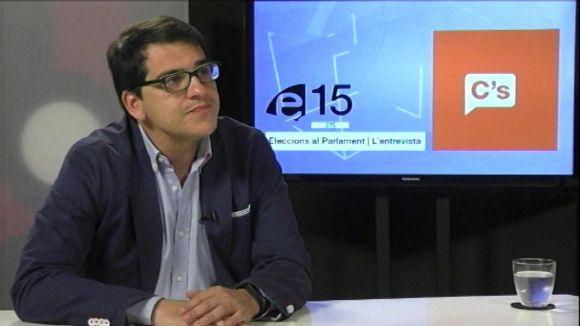 José María Espejo-Saavedra durant l'entrevista a Cugat.cat