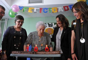 La veïna Margarita Pradell celebra 100 anys amb Conesa