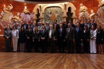 Foto de família dels assistents a l'acte