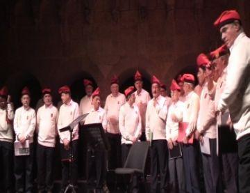 La trobada de veus d'homes permet l'intercanvi de cançons tradicionals catalanes i basques