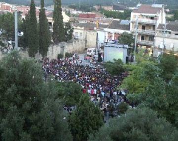 5.000 persones veuen la final de la Lliga de Campions a la plaça d'Octavià