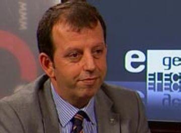Carles Brugarolas durant l'entrevista