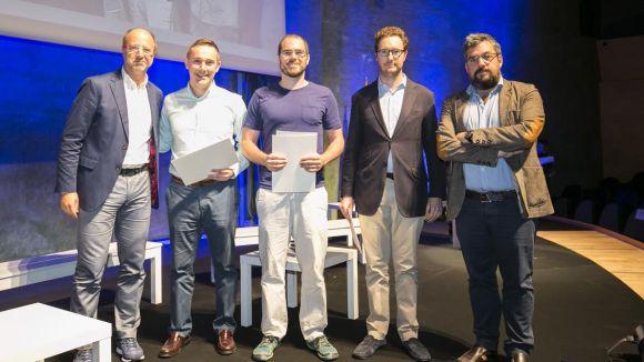 Membres de l'startup Mammoth Hunter guanyadors del premi Ogilvy