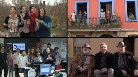 Cugat.cat felicita el Nadal amb una cançó coral