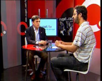 L'alcalde estrena l'emissió de Cugat tv assegurant que és un model per a mitjans locals