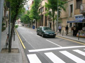 L'avingunda Francesc Moragas servirà de carril multifuncional segons l'horari