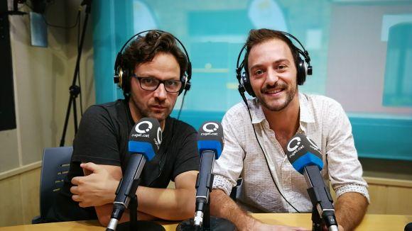 Marc Sambola i Francesc Abril a l'estudi 1 de Cugat.cat