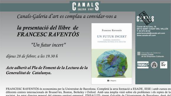 La Canals convida l'economista Francesc Raventós