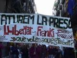 El jove 'Franki' està condemnat a 2 anys i 7 mesos de presó per participar en una manifestació contra la bandera espanyola