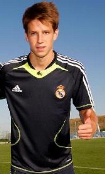 Imatge de Josep Señé amb el Reial Madrid C Foto:www.realmadrid.com