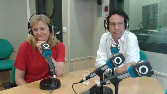Helena Mora i Joan Morera, responsables de la Fundació Victoria de los Ángeles, al 'Sant Cugat a fons'