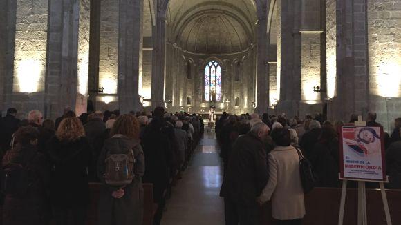 Sant Cugat acomiada Tomàs Grau en un funeral multitudinari al Monestir