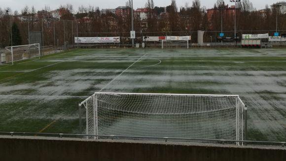 L'enfrontament entre el Sant Cugat FC i el Vic s'ajorna per culpa de la forta pluja