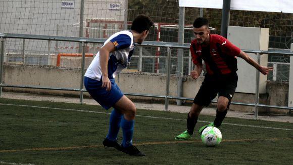 Arnau Benet en una imatge del partit / Foto: Sant Cugat FC