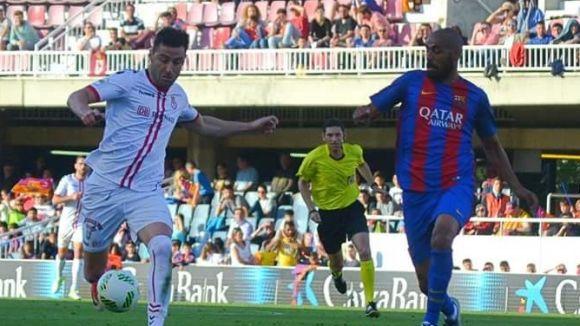 Benja ha pujat a Segona Divisió amb la Cultural Leonesa / Font: Maria Del Blanco