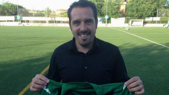 Jordi Garcia en la presentació amb el Mira-sol / Foto: CFU Mira-sol Baco