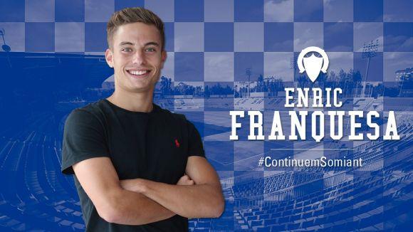 Enric Franquesa jugarà amb el Sabadell cedit pel FC Barcelona B