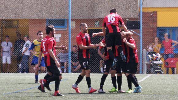 Imatge de la celebració del gol / Foto:Sandra Dihör