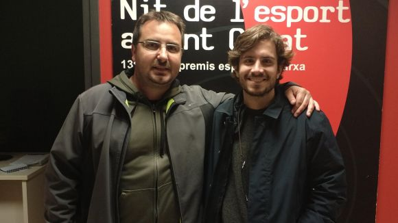 D'esquerra a dreta, Jordi López i Nacho Moretones