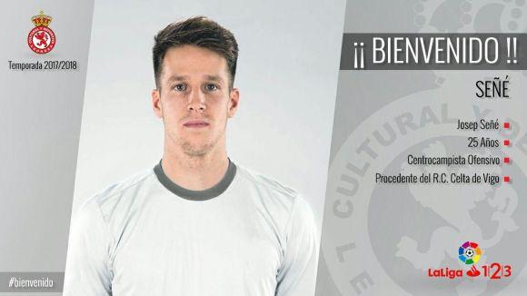El futbolista santcugatenc Josep Señé fitxa per la Cultural Lleonesa de Segona Divisió
