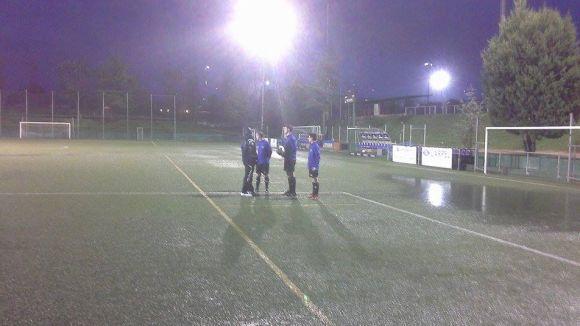 El matx entre el Junior i el Can Vidalet s'ajorna per la pluja / Font: Albert Riera