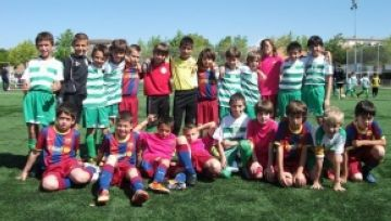 El Mira-sol Baco i l'escola del Barça estrenyen els seus vincles
