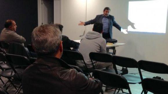 Joan Salabert presenta candidatura a la presidència de l'entitat / Foto: Cugat Mèdia