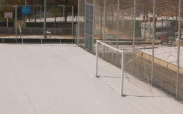 Les instal·lacions esportives tornen a funcionar després de la nevada