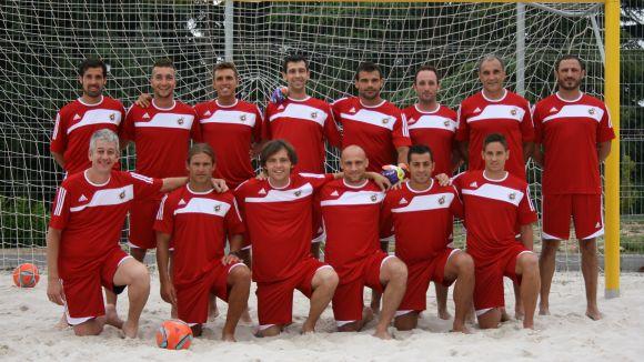 La selecció estatal de futbol platja s'entrena al CAR