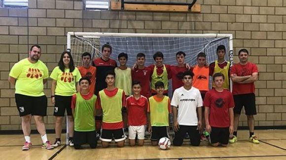 L'equip cadet del Futbol Sala Sant Cugat / Font: Futbol Sala Sant Cugat