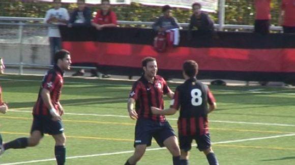 El Sant Cugat Esport tomba el líder invicte amb dos gols d'estratègia