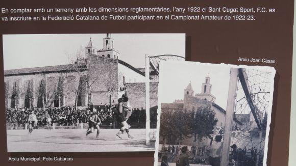 El camp de futbol del SantCu estava situat al costat del Monestir
