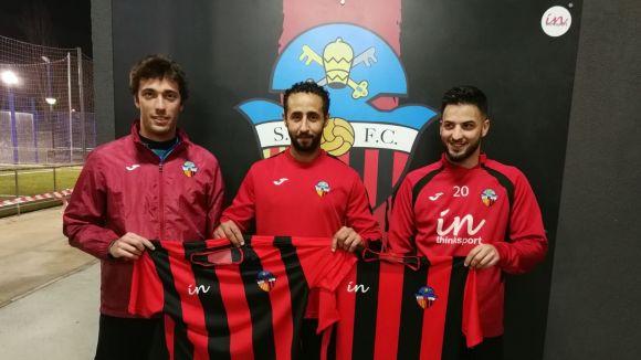 D'esquerra a dreta, Ribera, Naoufal i Reverter / Font: Sant Cugat FC