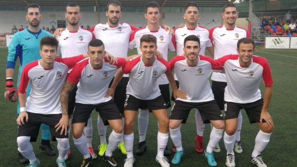 L'onze inicial amb el que el Sant Cugat FC ha saltat al camp de la UE Llagostera B