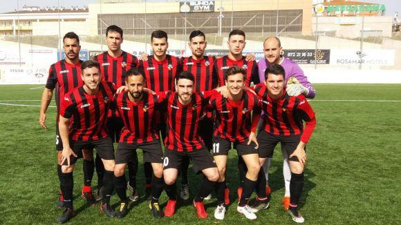 Onze titular del SantCu a Lloret / Font: Sant Cugat FC