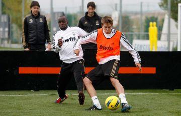 El santcugatenc Josep Sené s'ha entrenat amb el primer equip del Reial Madrid