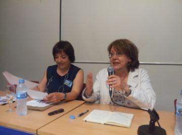 Patrícia Gabancho durant la conferència a la Casa de Cultura