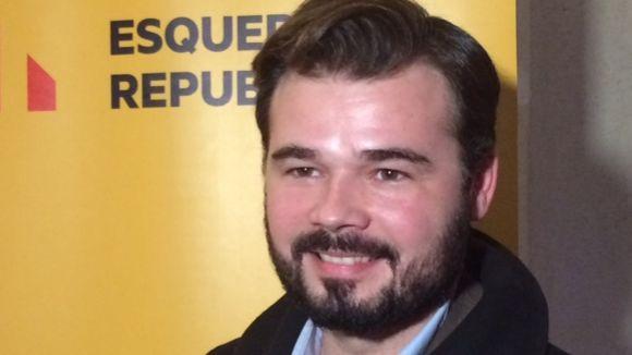 Rufián: 'Hem de començar a obeir-nos nosaltres mateixos amb una nova legalitat'