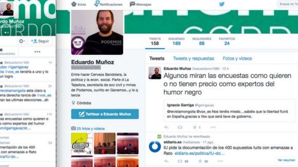 El president de VOX Sant Cugat denuncia un atac racista a Twitter