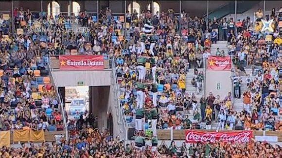 Els Gausacs guanyen la 2a jornada del Concurs de Castells amb la tripleta de 8