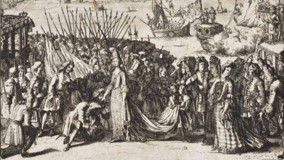 El Museu del Monestir acull una exposició de gravats sobre la guerra de Successió