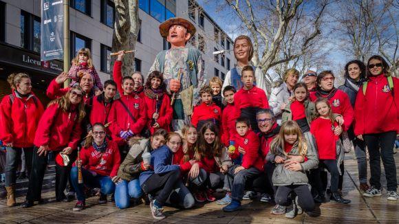 Els gegantons de Sant Cugat se sumen a les festes de Santa Eulàlia