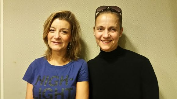 Gemma Navarra i Laura López-Osornio a l'estudi 2 de Cugat.cat