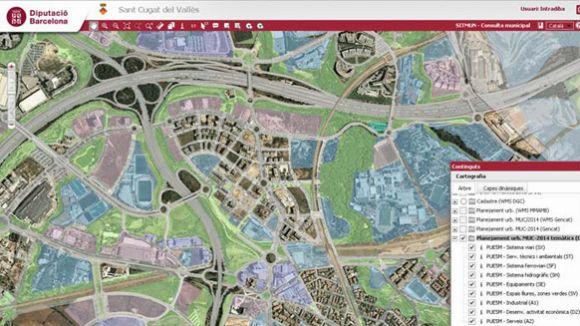 Sant Cugat entra al Sistema de gestió d'informació geogràfica local