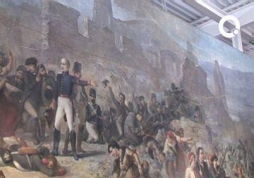 Recta final de la restauració d''El gran dia de Girona' al Centre de Béns Mobles