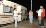 Una de les caravanes dels gitanos abans d'abandonar Sant Cugat