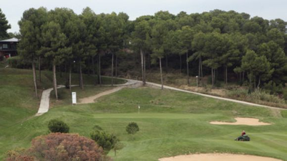 Un dels camps del Golf Can Sant Joan