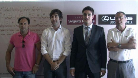 D'esquerra a dreta, Miquel Clavé, Xavier Tizón, Joan Muro i Joan Monzó.